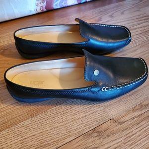 UGG Shoes - UGG black leather mules/slides